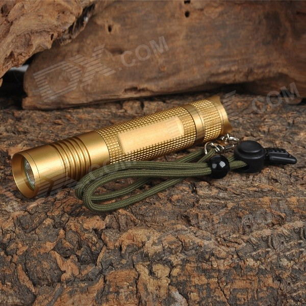 UltraFire SH-F12 Cree XM-L T6 850lm 3-Mode Memory White Light Flashlight - Golden (1 x 18650)