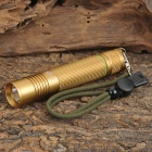 UltraFire SH-F12 Cree XR-E Q5 230lm 5-Mode Memory White Light Flashlight - Golden (1 x 18650)