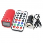 "Special Bullet 0.9"" LCD Car MP3 Player FM Transmitter with Remote Controller - Red (12~24V)"