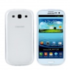 Protective Soft TPU Back Case w/ Screen Protector for Samsung Galaxy S3 i9300 - White