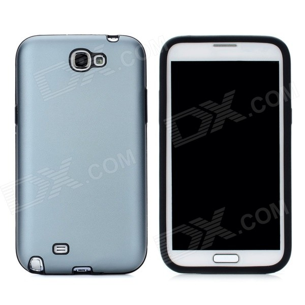Fashion Protective Aluminum Cover Silicone Back Case for Samsung Galaxy Note 2 N7100 - Grey от DX.com INT