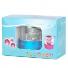 "Mini-Hifi A028 1"" LED Media Player Speaker w/ TF / FM / LED Colorful light - Blue + Transparent"