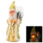 Cute Electronic Santa Claus Music Toy - Golden + White (3 x AA)
