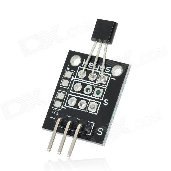 DIY LM35 Linear Temperature Sensor Module - Black