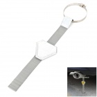 Car Exterior Anti Static Safe Earth Ground Belt - Silver