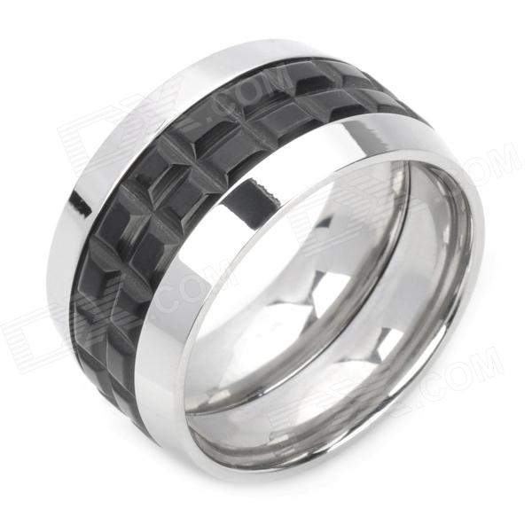 Romantic Wine Barrel Ring - Silver + Black