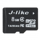 Jlike TF8G-C4 Micro SDHC / TF Memory Card - Black (8GB / Class 4)