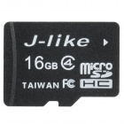 Jlike TF16G-C4 Micro SDHC / TF Memory Card - Black (16GB / Class 4)