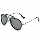 OREKA 3428 Fashion UV 400 Protection Resin Lens Sunglasses - Deep Green + Black