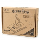 DIY Solar Powered Ocean Park Wooden Kid's Puzzle Toy - Beige
