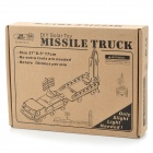 DIY Solar Powered Missile Truck Wooden Kid's Puzzle Toy - Beige