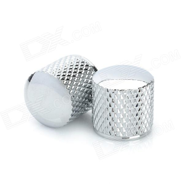 Iron Tone Knob for Guitar / Bass - Silver (2 PCS) high quality steel alloy guitar bass jack set silver 2 pcs