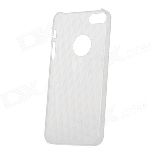 Stylish 3D Rhombus Pattern Protective PC Back Case for Iphone 5 - Translucent White