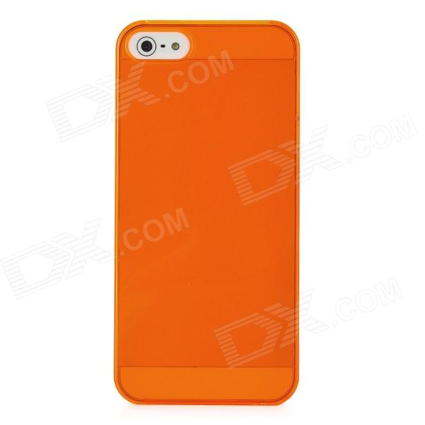 Stylish Protective Hard PC Back Case for Iphone 5 - Translucent Orange
