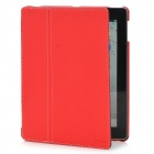 HOTSION Protective PU Leather Case Cover for Ipad 2 / New Ipad - Red