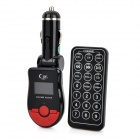 "FM101 1"" LCD Car MP3 Player FM Transmitter with Remote Controller - Black + Red (12V)"