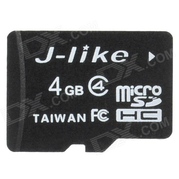 Jlike TF4GB-C4 Micro SDHC / TF Memory Card - Black (4GB / Class 4)