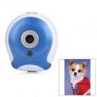 Mini TN Screen 300KP Pet Digital Camera w/ Charging Cable / Clip - Blue + White