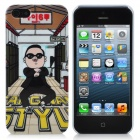 Cartoon Gangnam Style Psy Pattern Protective Plastic Back Case for iPhone 5 - Multi-Color