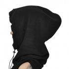 Outdoor Sports Polar Fleece Full Headgear Face Mask w/ Adjusted Strap - Black