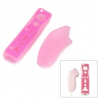 Protective Soft Silicone Case Set for Wii Controllers - Pink (2 PCS)