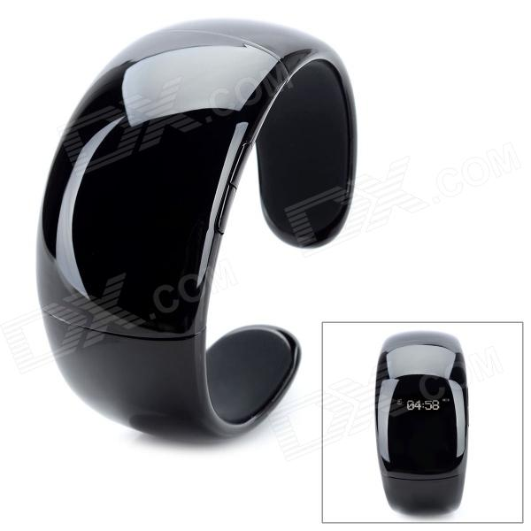 Bluetooth V2.0 + EDR Bracelet w/ Answer Call + Vibration Function + Digital Time - Black wireless service call bell system popular in restaurant ce passed 433 92mhz full equipment watch pager 1 watch 7 call button