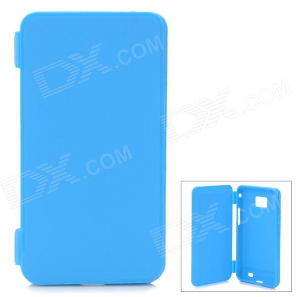 Protective Flip-Open Soft Plastic Case for Samsung Galaxy S2 i9100 - Light Blue