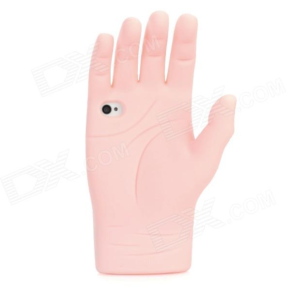 Palm Style Protective Silicone Case for Iphone 4 / 4S - Pink