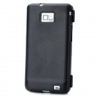 Protective Flip-Open Soft Plastic Case for Samsung Galaxy S2 i9100 - Black