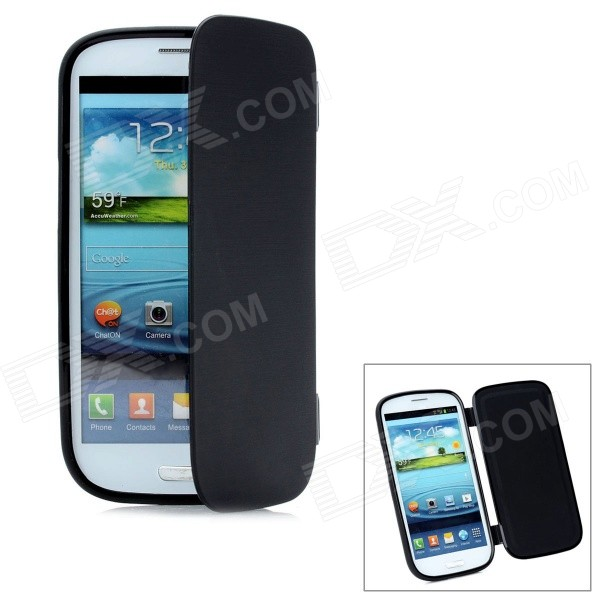 Protective Flip-Open Soft Plastic Case for Samsung Galaxy S3 i9300 - Black стоимость