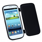 Protective Flip-Open Soft Plastic Case for Samsung Galaxy S3 i9300 - Black