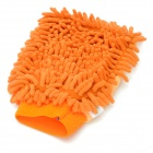 E23 Chenille Fiber Car Washing Gloves - Orange