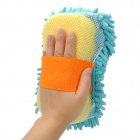 KTM001 Chenille Fiber Car Washing Gloves Sponge Pad - Blue