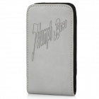 Protective PU Leather Case Cover for iPhone 3G / 3GS / 4 / 4S / 5 - Gery
