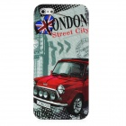 London Street Style Protective Plastic Back Case for Iphone 5 - Grey + Red