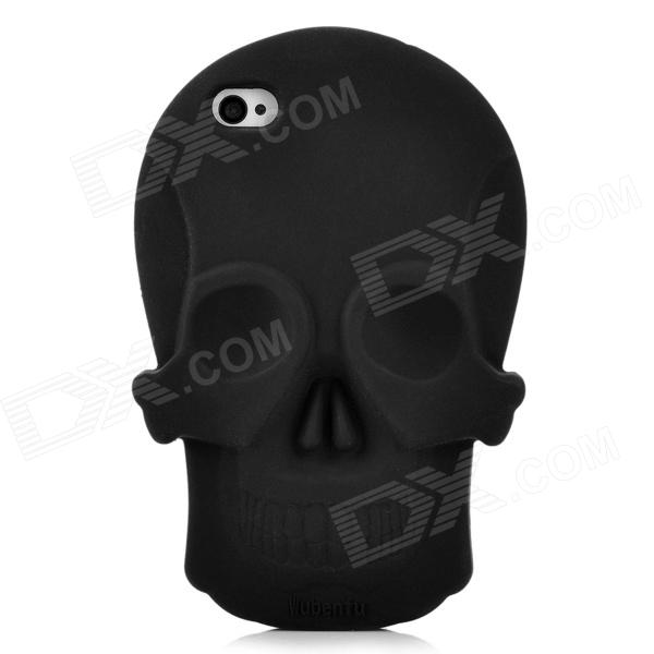 Cool Skull Head Style Protective Soft Silicone Back Case for Iphone 4 / 4S - Black luxury watches mens stainless steel bracelet wrist watch men top brand large dial analog quartz watches relogio masculino zer
