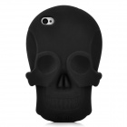 Cool Skull Head Style Protective Soft Silicone Back Case for Iphone 4 / 4S - Black