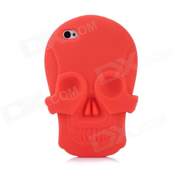 Cool Skull Head Style Protective Soft Silicone Back Case for Iphone 4 / 4S - Red cool skull head style protective soft silicone back case for iphone 4 4s pink