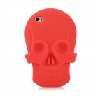 Cool Skull Head Style Protective Soft Silicone Back Case for Iphone 4 / 4S - Red