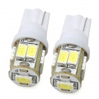 T10 4.5W 450lm 9-SMD 5630 LED White Light Car Steering Lamp (12V / 2 PCS)