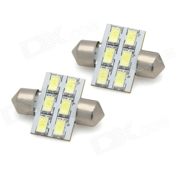 цены на Festoon 31mm 3W 300lm 6-SMD 5630 LED White Light Car Reading / License Plate Lamp (12V / 2 PCS) в интернет-магазинах
