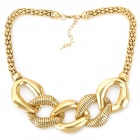 Fashion Copper Alloy Neck Decoration Collar Necklace - Golden