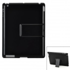 Ultra Thin Protective Plastic Back Case w/ Stand for iPad 2 / The New iPad - Black