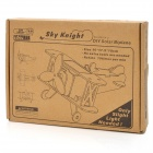 Solar Powered DIY 3D Skyknight Style Wooden Puzzle Toy - Oyster White