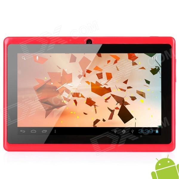 "A13 7"" Capacitive Screen Android 4.0 Tablet PC w/ TF / Wi-Fi / Camera / G-Sensor - Red"