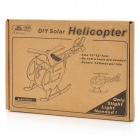 Solar Powered DIY 3D Helicopter Style Wooden Puzzle Toy - Oyster White