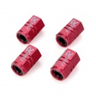 TYPE-R JW-2201 Aluminum Alloy Car Tire Valve Caps - Purple Red (4 PCS)