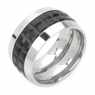 Italian Romantic Wine Barrel Ring - Silver + Black