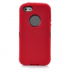 Protective Detachable Silicone + Plastic Two-Layer Case Cover for Iphone 5 - Red