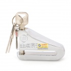 Gold Point Atomic 1505 Steel Disc Brake Anti-Theft Lock with Keys - Silver